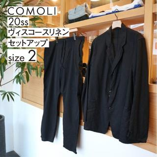 COMOLI - 20ss COMOLI ヴィスコース セットアップ Black size2