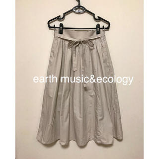 earth music & ecology - earth music&ecology ウエストリボンスカート