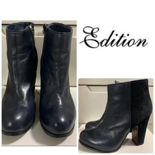 Edition - エディション ブラックレザー  ブーツ