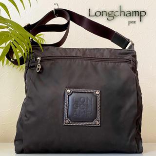 LONGCHAMP - Longchamp ロンシャン 牛革×ナイロン レザーショルダーバッグ 鞄
