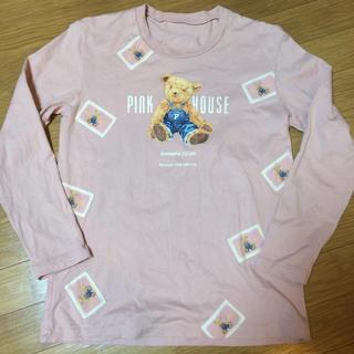 PINK HOUSE - ピンクハウス くまちゃんワッペン長袖Tシャツ
