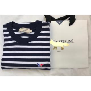 メゾンキツネ(MAISON KITSUNE')の美品 メゾンキツネ  ロンT(Tシャツ/カットソー(七分/長袖))