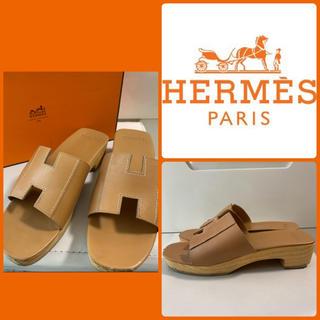 Hermes - エルメス    ライトブラウンレザー  サンダル