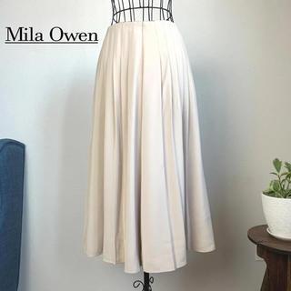 Mila Owen - ミラオーウェン フレアワイドパンツ 0