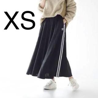 アディダス(adidas)のアディダス ロング サテンスカート ブラック FL0039(ロングスカート)