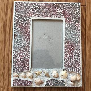 貝殻 写真立て ガラス(インテリア雑貨)