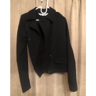 コムデギャルソン(COMME des GARCONS)のコムデギャルソンの変形ウールジャケット 黒(テーラードジャケット)