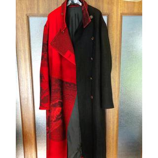 Yohji Yamamoto - Yohji Yamamoto 赤フラノ 右前ドレス