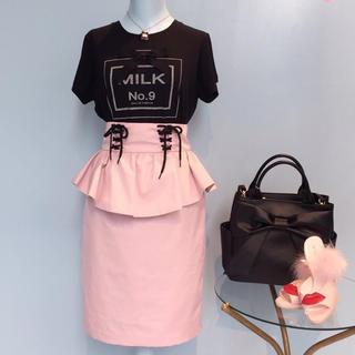 MILK - MILK♡ペプラムタイトスカート ピンク