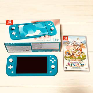 ニンテンドースイッチ(Nintendo Switch)のnintendo switch lite ターコイズ 牧場物語(携帯用ゲーム機本体)