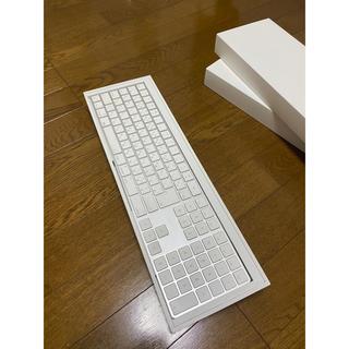 アップル(Apple)のApple magic keyboard テンキー付 の販売です。 (PC周辺機器)