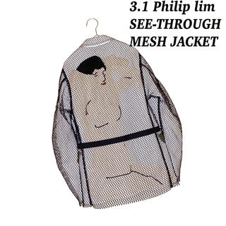 3.1 Phillip Lim - 3.1 Philip Lim フィリップリム 和柄 メッシュ ワーク ジャケット