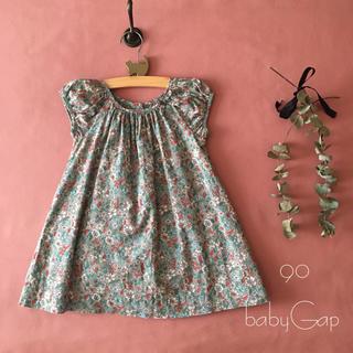 babyGAP - babyGap ベビー ギャップ|スモーキー小花柄ワンピース*̩̩̥୨୧˖ 90