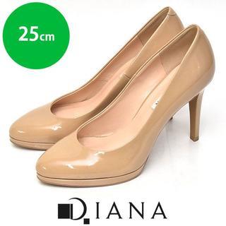 DIANA - ほぼ新品❤ダイアナ アーモンドトゥ エナメル パンプス 25cm