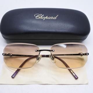 ショパール(Chopard)のchopard ショパール サングラス フチなし ダイヤ入り アイウェア 箱付き(サングラス/メガネ)