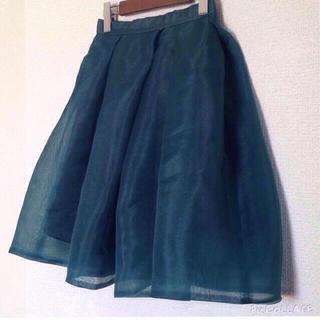 フレイアイディー(FRAY I.D)のFRAY I.Dオーガンジースカート(ひざ丈スカート)