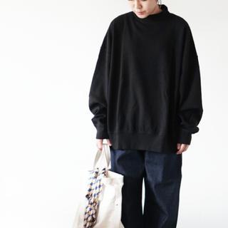 ヤエカ(YAECA)のLENO&co リノ * mock neck long tee black(トレーナー/スウェット)
