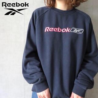 Reebok - 90s リーボック 刺繍ベクターロゴ スウェット トレーナー 古着女子