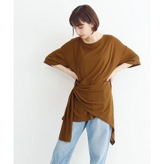 merlot - 新品 merlot カットソー アシメ裾結びTシャツ ブラウン