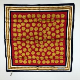 サンローラン(Saint Laurent)の●イヴサンローラン/シルクスカーフ 赤×青(バンダナ/スカーフ)
