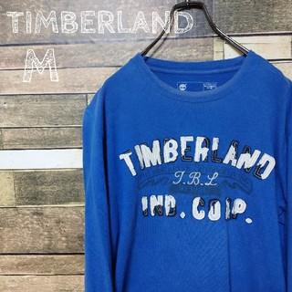 ティンバーランド(Timberland)の【激レア】ティンバーランド ロンT 青 M(Tシャツ/カットソー(七分/長袖))