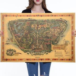 【非売品】1950年代 Disneyland USA ディズニーランド 地図
