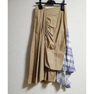 SCOT CLUB - スカート フレアー マキシ ロング チェック 柄 プリーツ ラベンダー ベージュ