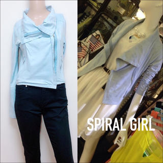 SPIRAL GIRL - SPIRAL GIRL レザーライクジャケット♡マウジー SLY ANAP ザラ