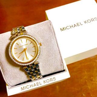 Michael Kors - 【大特価!!】マイケルコース シンプル腕時計 ゴールド×シルバー ストーン🎀