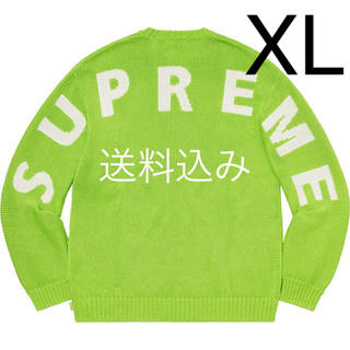 Supreme - 【XL】SUPREME Back Logo Sweater セーター Green