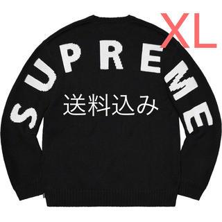 Supreme - 【XL】SUPREME Back Logo Sweater セーター 黒