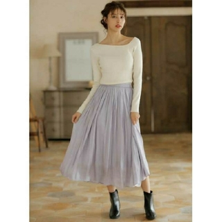 INGNI - 【新品】INGNI【春の新作】シャイニーサテンギャザースカート310043