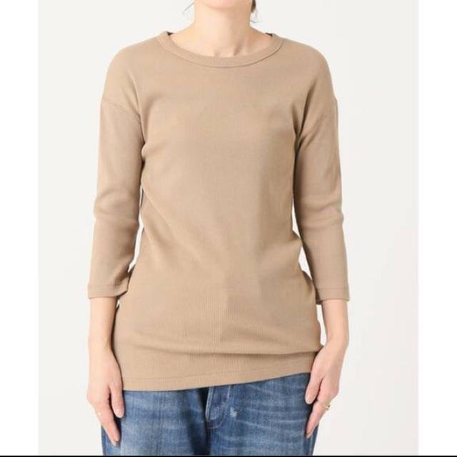 DEUXIEME CLASSE(ドゥーズィエムクラス)の新品未使用 ドゥーズィエムクラス  RIB Tシャツ ブラウンB レディースのトップス(カットソー(長袖/七分))の商品写真