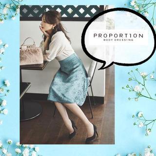 PROPORTION BODY DRESSING - プロポ♡フラワーカットワークフレアスカート