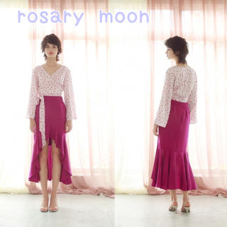 ロザリームーン(Rosary moon)のSlope-hemFlareSkirt rosarymoon ロザリームーン (ロングスカート)