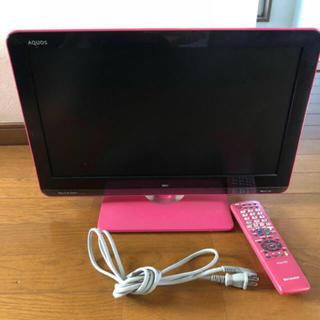 SHARP - カラーテレビ(ピンク)
