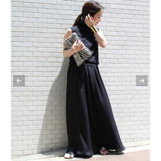 DEUXIEME CLASSE - 18ss AP STUDIO マキシスカート 黒 ドゥーズィエムクラス