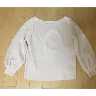 ANAYI - 美品☆ANAYI袖レース七分丈ニット・ベージュ☆36サイズ