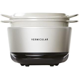 バーミキュラ(Vermicular)の 【新品】バーミキュラ☆ライスポット 5合炊き☆シーソルトホワイト☆(炊飯器)