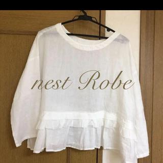 ネストローブ(nest Robe)の☆新品・タグ付き☆ ネストローブ  nest Robe リネンブラウス(シャツ/ブラウス(長袖/七分))