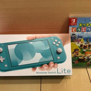 ニンテンドウ(任天堂)のNintendo Switch lite スイッチ ライト どうぶつの森 セット(携帯用ゲーム機本体)