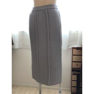 SCOT CLUB - Bouchon ミモレ丈スカート グレー 日本製 定価 11,880