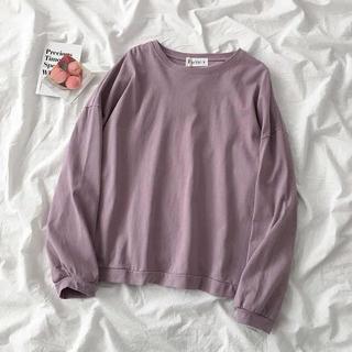 ゴゴシング(GOGOSING)の韓国 くすみピンク ビッグサイズロンT(Tシャツ(長袖/七分))