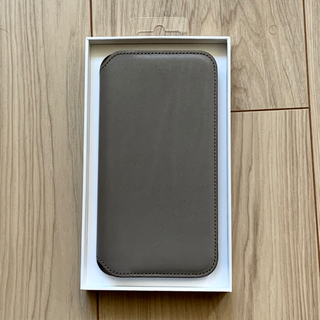 アップル(Apple)の【超美品】iPhone X Leather Folio トープ(iPhoneケース)