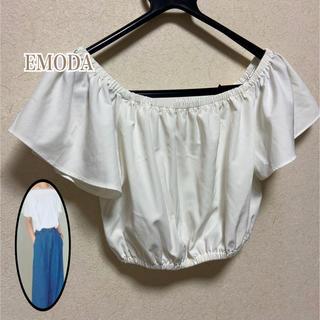 エモダ(EMODA)の⭐︎ EMODA ショート丈 オフショルダー ・S(ベアトップ/チューブトップ)