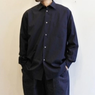 COMOLI - Graphpaper Broad Regular Collar Shirt