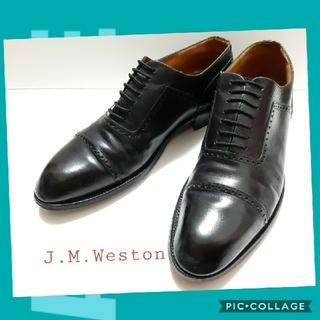 ジェーエムウエストン(J.M. WESTON)のJ.M.Weston 中古 美品 ソフトレザー JMウエストン ストレートチップ(ドレス/ビジネス)