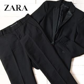 ザラ(ZARA)の超美品 (EUR)XS ザラ ZARA レディース スーツ上下 ブラック(スーツ)