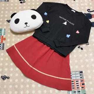 ディズニー(Disney)の新品美品♡Disney/黒トレーナー&arrow/赤スカート コーデセット(セット/コーデ)