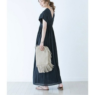 ノーブル(Noble)のMARIHA  マリハ 夏の光のドレス 黒 ブラック(ロングワンピース/マキシワンピース)